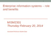 MISM2301 Enterprise Systems - success and failure (Session 19)-Sec 4(1)