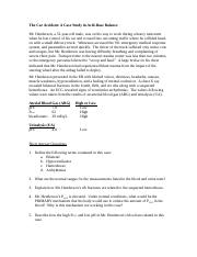 Acid-Base Case Study - Clinical chemistry