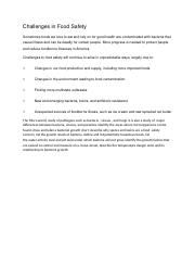 Challenges in Food Safety.docx