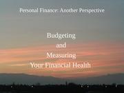 03 Budgeting and your Financial Health 2012-01-12