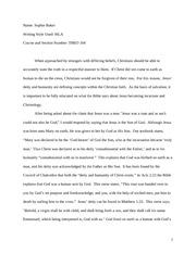 THEO 104 Short Essay 2