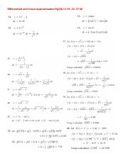 09 2015Differentials and Linear Approximation