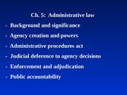 Blaw 2013: Administrative Law