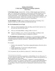 Handout Arguments Theory 124 F14