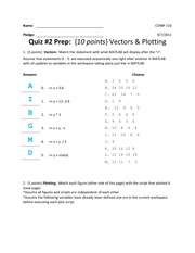 Practice Quiz #2 (With Solutions)