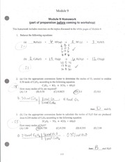 Homework on equations and elements