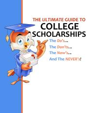 The Ultimate Guide College Scholarships