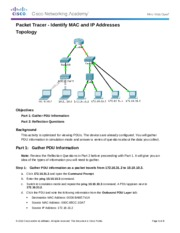 5.1.4.4 Packet Tracer - Identify MAC and IP Addresses Instructions IG