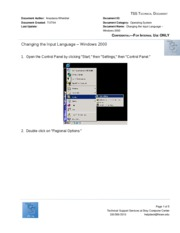 "Changing the Input Language â€"" Windows 2000"