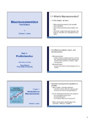 Macroeconomic Analysis Introduction