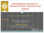 M 3,4  5 marginal analysis and Demand and supply