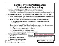 1 - parallel performance