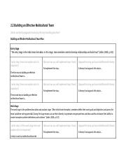 CCBN Assignment_3_Template - Building an Effective Multiculture Team