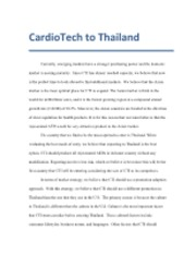 CardioTech to Thailand