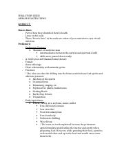 FINAL- disease related topics study guide