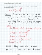 PV and Compound Interest Homework