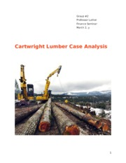 FIN 469 - Cartwright Lumber Case