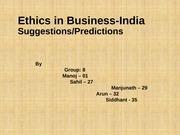 Group 8 - Ethics in Business-India