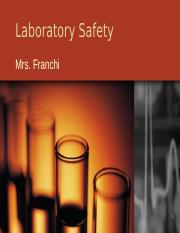 Laboratory Safety PP