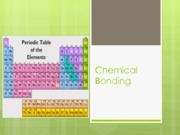 Chemical Bonding - HB 9-19