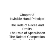 Chapter 3 cont. invisible hand