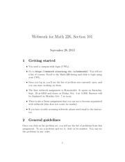 introduction to webwork notes
