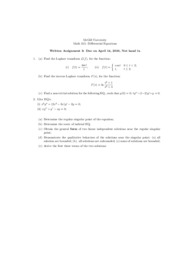 (3) - Assignment Solutions
