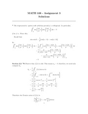 MATH 338 Assignment 3 Solutions