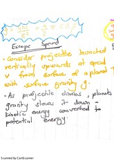 Gravitational Escape Speed Exam Revision Notes