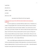 essay n genocide joseph daher pols essay word  7 pages international criminal tribunal for the former yugoslavia