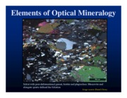 Elements of Optical Mineralogy