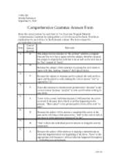 Com 150 comprehensive grammar checkpoint answer form