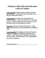 PE Code of Conduct