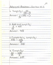Advanced Problems Section 10.5