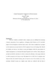 Demand management - micro dissertation