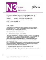 CfE_Unit_N3_English_ProducingLanguage