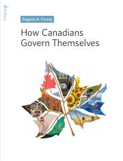 How Canadians Govern Themselves. 9th ed 2016 (1)