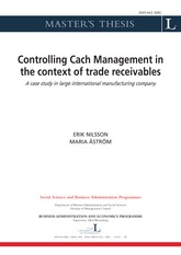 Cash management in the context of trade receivables