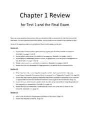 Review for Chapter 1