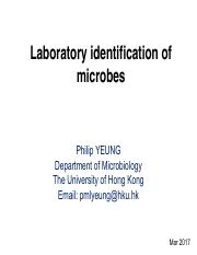 wk 11_2017.03.23_Chapter 10_Laboratory identification of microbe 01