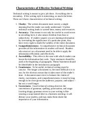 01 Characteristics of Effective Technical Writing.doc