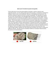 Formation of gneiss from granite