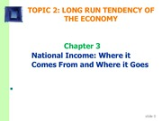 Topic 3 - National Income
