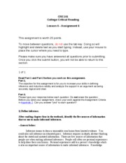 CRE101 - Lesson 6 - Assignment 6