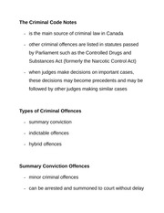 The Criminal Code Notes