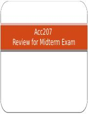 Acc207 - Review for Midterm Exam.pptx