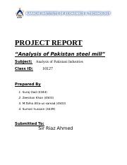 Analysis of Pakistani Industries.doc