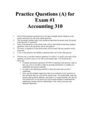 Practice Questions for Exam 1 part A-1