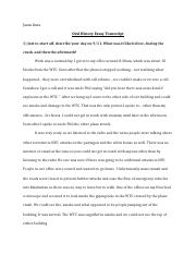 Personal Life Essay Examples  Essay Transcipt  Jason Gura Oral History Essay Transcript  Just To  Start Off Describe Your Day On  What Was It Like Before During The Crash Water Crisis Essay also A Essay About School  Essay Transcipt  Jason Gura Oral History Essay Transcript   Living A Healthy Lifestyle Essay