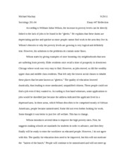 Essay #47 wilson and poverty
